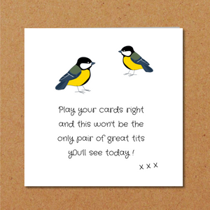 funny tits birthday card