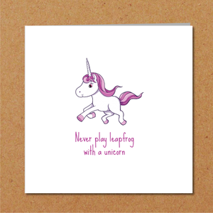 humorous unicorn card
