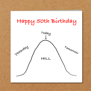 humorous 50th birthday card
