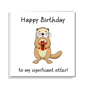 significant otter birthday card