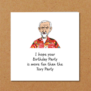 funny corbyn birthday card