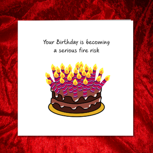 cake candles birthday card