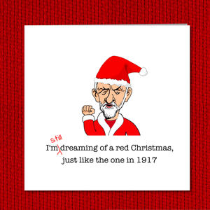 Jeremy Corbyn Christmas Card - For the Many - Labour Party, Political, Jezza - Fun, Funny, Humorous, Cartoon