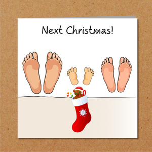 Christmas Card from Baby Bump to Daddy / New Dad / Husband - New Baby Pregnant - From Mummy
