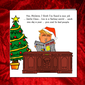 Funny Donald Trump Christmas Card - Amusing Humorous Rude Cheeky - US Presidential Election