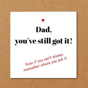 humorous fathers day card son daughter
