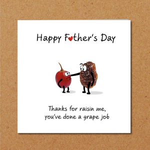 raisin fathers day card