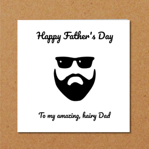 bearded fathers day card Dad