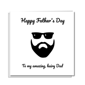 beard fathers day card