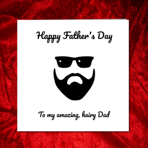 beard fathers day card dad
