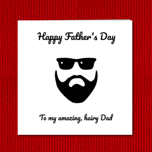 hairy dad fathers day card
