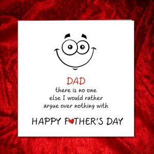 argue dad fathers day card