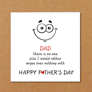 humorous fathers day card
