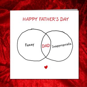 Funny Fathers Day Card from daughter/son - funny inappropriate Dad/Daddy -  fun, humorous, amusing, joke, comic, embarrassing - handmade