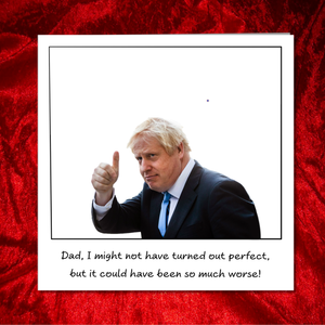 Funny Boris Johnson Father's Day Card - from son daughter - humorous humour amusing joke Bojo