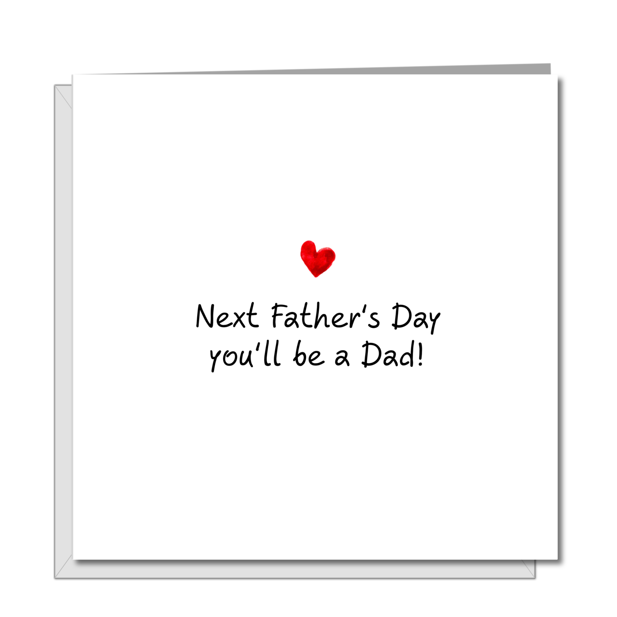 Father's Day Card to new Dad, Dad-to-be, future father, Daddy from pregnant wife, expecting, mum-to-be,