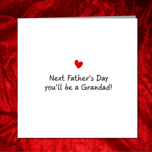 Father's Day Card to new Dad /Grandad / Grandpa - expecting pregnant baby - from daughter son