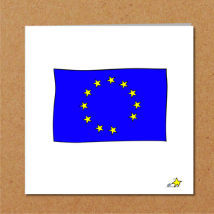 Funny Brexit card Birthday Europe EY politics political blank card. Humorous joke.