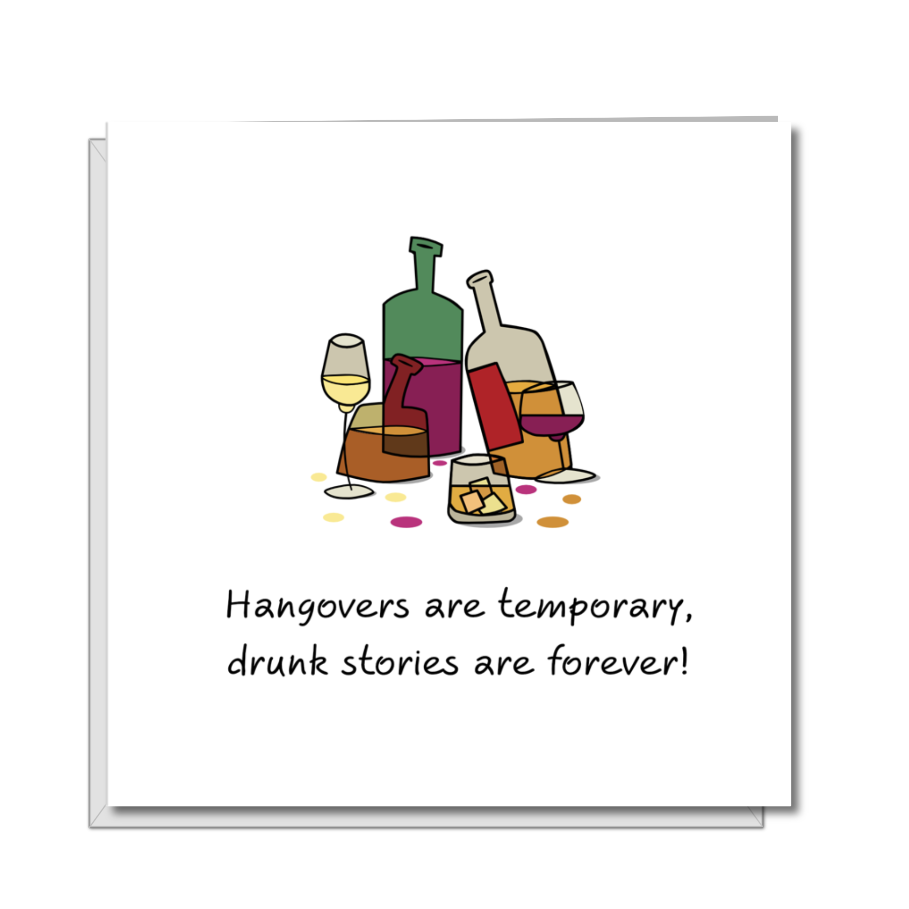 funny hangover card