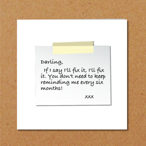 humorous husband card