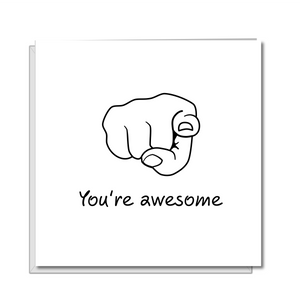 You're Awesome card. Thank you card. Graduation card. Employee card. Son, daughter. Teacher thank you