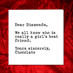 funny chocolate quote image
