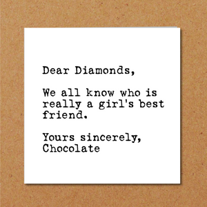 funny chocolate birthday card wife