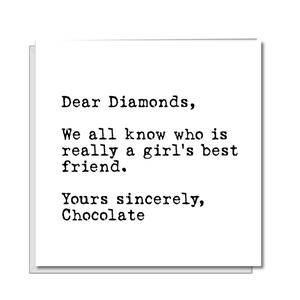 funny chocolate birthday card girlfriend