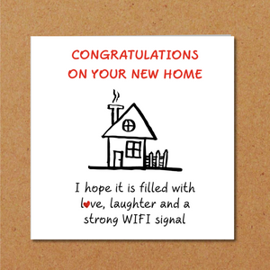 congratulations new house home funny card