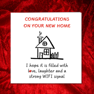 new house funny card