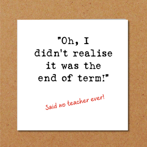 teacher thank you card humour