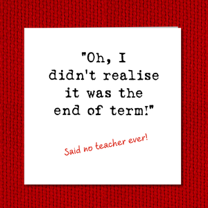 teacher thank you card humorous