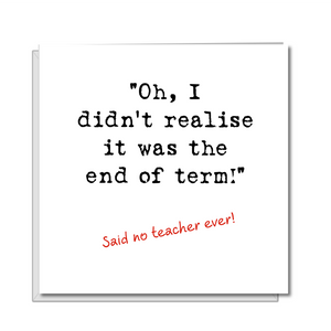 teacher thank you card funny