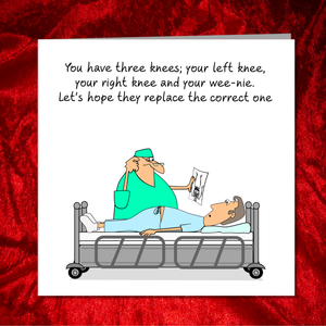 Funny Knee Replacement Surgery Card - Get Well Soon Card, Operation Recovery, Funny, humorous,