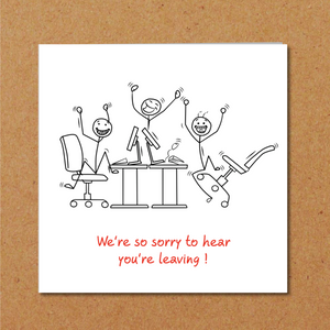 humorous leaving job work card
