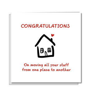congratulations new house card