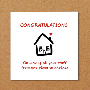 moving house home card