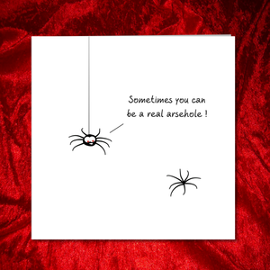 funny rude spider quote card