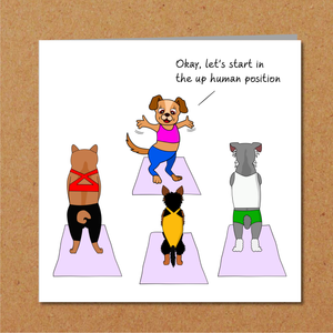Funny Pilates Birthday Card - Pilates Yoga Mindfulness - Mum Mom Girlfriend or Girl Friend - Any occasion card. Funny, humorous and amusing