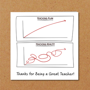 humorous thank you teacher card