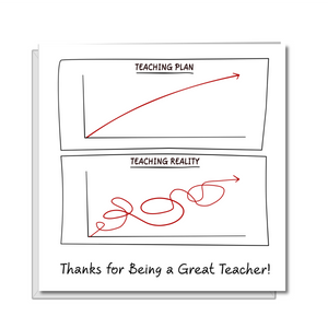 funny thank you teacher card