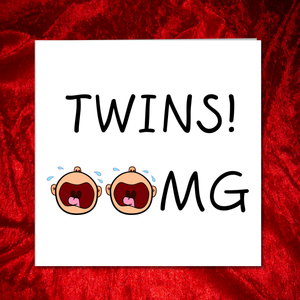 funny congratulations new twins card