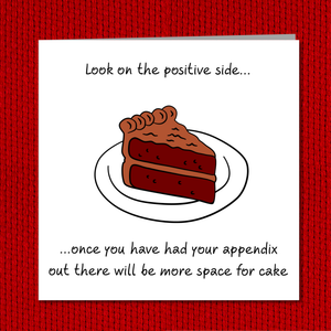 Funny Appendix Surgery Card - Appendectomy Get Well Soon Card, Operation Recovery, - humorous, fun Recover