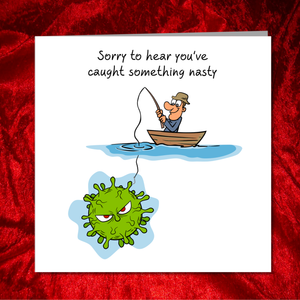 Coronavirus / Covid 19 Get Well Soon Card, Feel Better Soon, Speedy Recovery -  Funny, humorous, fun - Lockdown Quarantine Self-Isolation