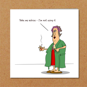 Funny Birthday card for Girl Friend Wife Mum - 40th 50th 60th Birthday  - Humor, humorous and fun - bad example drinking