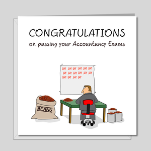 Congratulations on Passing your Accountancy Exams Card - exams accountant