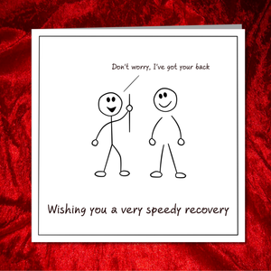 Back Surgery / Operation Card - Get Well Soon Card, Fast Recovery, Recover Quickly - Spine Disk Spinal
