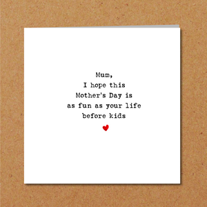 humorous mothers day card