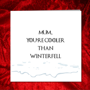 winterfell mothers day card