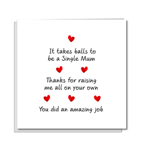 single Mum mothers day card